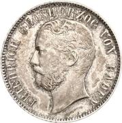½ Gulden - Friedrich I – obverse