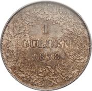 1 Gulden - Leopold I – reverse