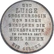 1 Gulden - Friedrich I (Mint Visit) – reverse