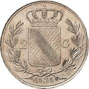 2 Gulden - Ludwig I – reverse