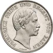 2 Gulden - Friedrich I – obverse