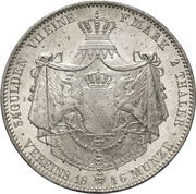 2 Thaler / 3½ Gulden - Leopold I – reverse