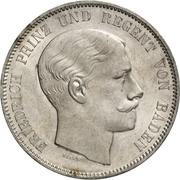 2 Thaler / 3½ Gulden - Ludwig II – obverse