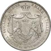 2 Thaler / 3½ Gulden - Ludwig II – reverse