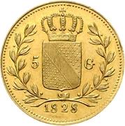 5 Gulden - Ludwig I – reverse