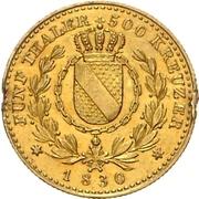 5 Thaler - Ludwig I. – reverse