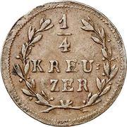 ¼ Kreuzer - Ludwig I – reverse