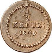 ½ Kreuzer - Karl I Friedrich – reverse