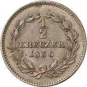½ Kreuzer - Leopold -  reverse