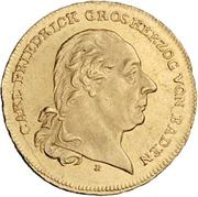 1 Ducat - Karl Friedrich (Mannheim; Rheingold-Dukat) – obverse