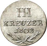 3 Kreuzer - Karl I Friedrich – reverse