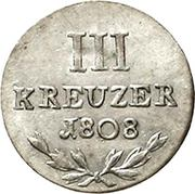 3 Kreuzer - Karl Friedrich – reverse