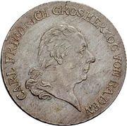 10 Kreuzer - Karl I Friedrich – obverse