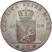 10 Kreuzer - Karl I Friedrich – reverse