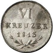 6 Kreuzer - Karl I Friedrich – reverse