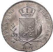 1 Conventionsthaler - Karl I Friedrich – reverse