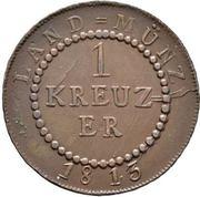 1 Kreuzer - Karl Ludwig Friedrich – reverse