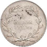 1 Kronenthaler - Karl Ludwig Friedrich – reverse