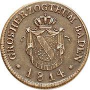 ½ Kreuzer - Karl II Ludwig Friedrich – obverse