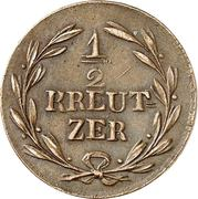 ½ Kreuzer - Karl II Ludwig Friedrich – reverse