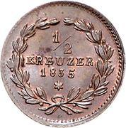 ½ Kreuzer - Leopold I – reverse