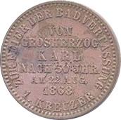 1 Kreuzer - Friedrich I. (Constitution) – reverse