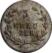3 Kreuzer - Ludwig I. – reverse