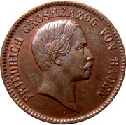 1 Kreuzer - Friedrich I – obverse