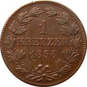 1 Kreuzer - Friedrich I – reverse