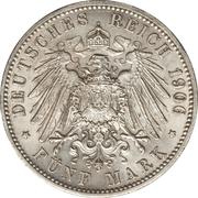 5 Mark - Friedrich I (Wedding Anniversary) – reverse