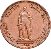 1 Kreuzer - Leopold I. (Karl Friedrich's statue) – reverse