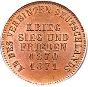 1 Kreuzer - Friedrich I (Victory over France) – reverse