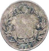 6 Kreuzer - Ludwig I – reverse