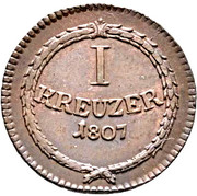1 Kreuzer - Karl I Friedrich – reverse