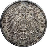 2 Mark - Friedrich I (Golden Wedding) – reverse