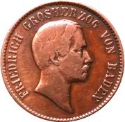 1 Kreuzer - Friedrich I. (Birth of new heir) – obverse