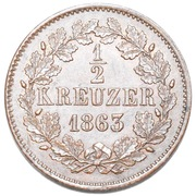 ½ Kreuzer - Friedrich I – reverse