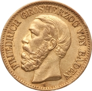 10 Mark - Friedrich I – obverse