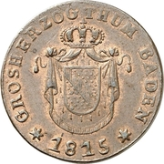1 Kreuzer - Karl II Ludwig Friedrich – obverse