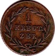1 Kreuzer - Karl II Ludwig Friedrich – reverse
