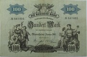 100 Mark (Badische Bank) – obverse