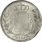 1 Gulden - Ludwig I – reverse