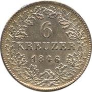 6 Kreuzer - Leopold I. – reverse