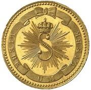 1 Kreuzer - Karl Leopold Friedrich (Gedenkkreuzer Gold Pattern) – obverse