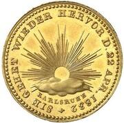 1 Kreuzer - Karl Leopold Friedrich (Gedenkkreuzer Gold Pattern) – reverse