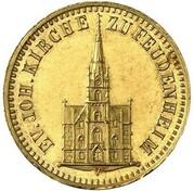1 Kreuzer - Friedrich I (Gedenkkreuzer Gold Pattern) – obverse