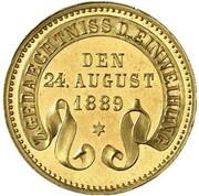 1 Kreuzer - Friedrich I (Gedenkkreuzer Gold Pattern) – reverse