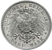3 Mark - Friedrich II – reverse
