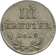 3 Kreuzer - Karl Ludwig Friedrich – reverse