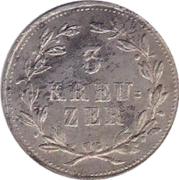 3 Kreuzer - Karl II Ludwig Friedrich – reverse